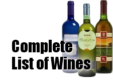 Complete Wine List